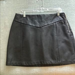 NWOT Zara Faux-Leather Miniskirt, size